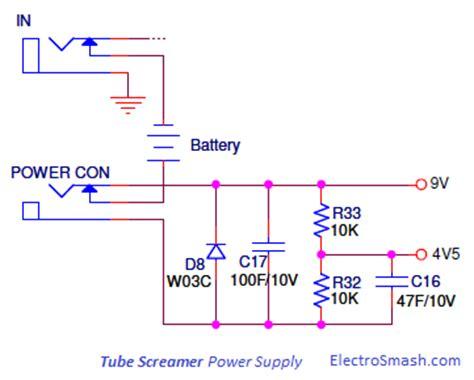 resistor divider power supply electrosmash screamer circuit analysis