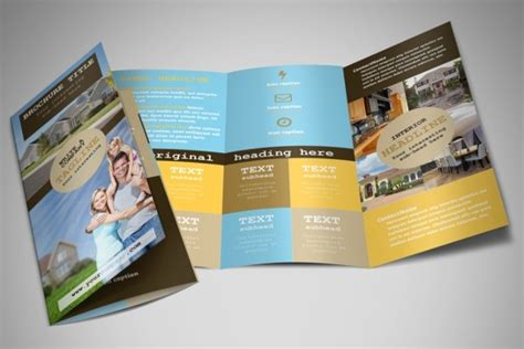 33 Real Estate Brochure Designs Exles Psd Word Pages Real Estate Tri Fold Brochure Template