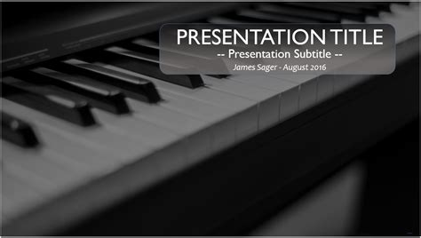Piano Template by Free Piano Powerpoint Template 10102 Sagefox Powerpoint