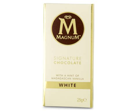 Magnum Milk Chocolate Bar 25g 30 x magnum signature white chocolate mini bar 25g ebay