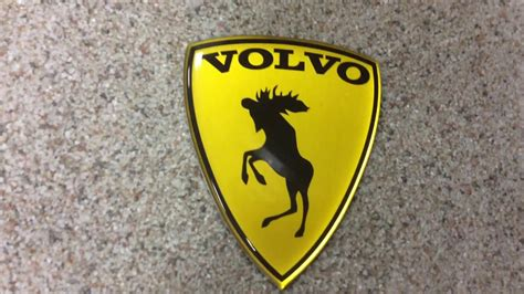 alstickers prancing moose volvo aluminumpolyurethane car sticker satin yellow youtube