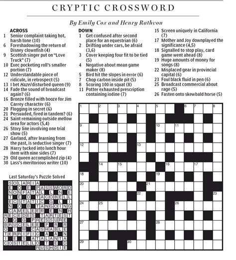 national post cryptic crossword forum saturday june 23 national post cryptic crossword forum saturday february