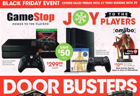 wigglecom all black friday gamestop s full black friday ad leaks hot ps4 xbox one