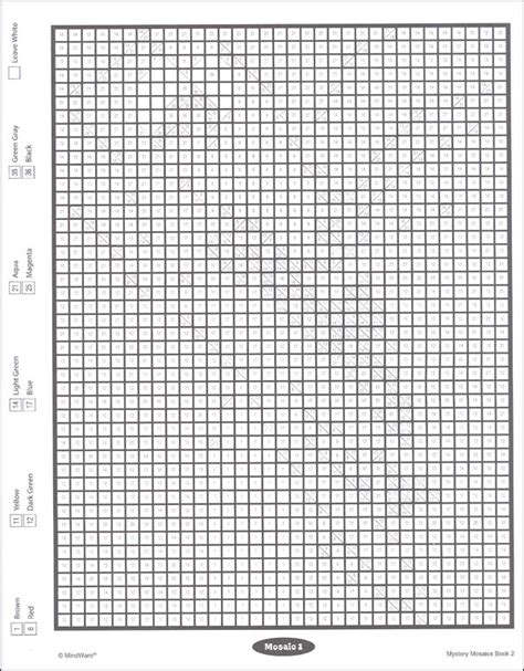 hidden mosaic pictures printable free coloring pages of mystery mosaic