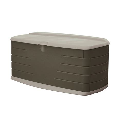 rubbermaid deck box with seat rubbermaid 90 gal large deck tool box set with seat