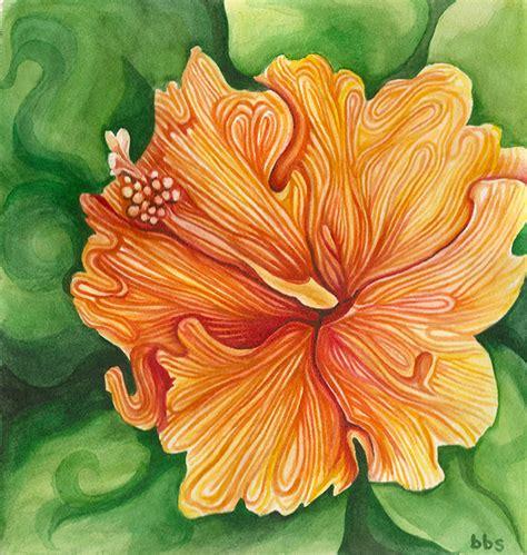 hawaiian flower painting hawaii hibiscus painting
