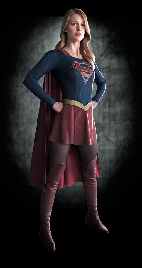 tattoo girl tv show 2015 first look cbs s supergirl totally stole her costume from