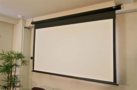 ceiling mounted electric projector screen spectrum series electric screens wall ceiling elite