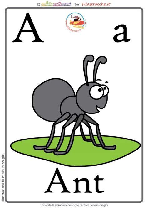 lettere di inglese schede alfabeto inglese da stare lettera a
