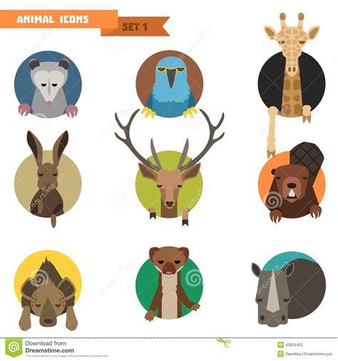 animal avatars vector illustration stock illustration