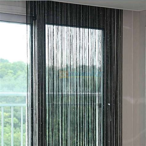 thread curtains online beautiful black string curtain by handloomhub online