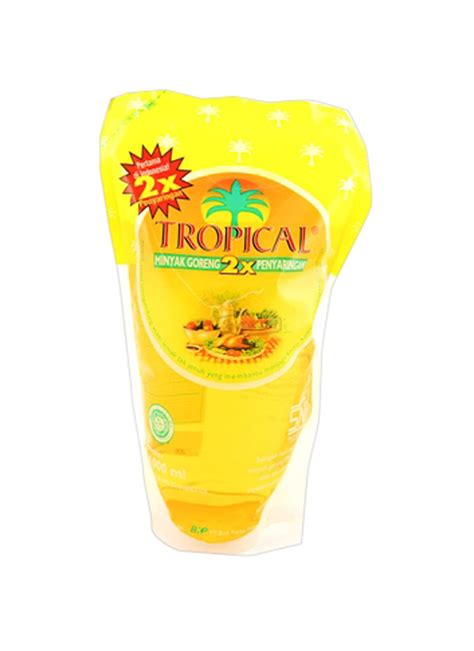tropical minyak goreng refill pch 1000ml klikindomaret