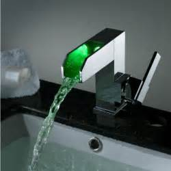 led bathroom faucet 16cm single handle chrome finish waterfall color changing