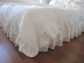 eyelet dust ruffle bedskirt scalloped edge lace by nurdanceyiz