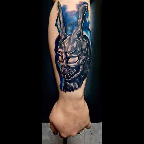 pure ink tattoo the amazing frank the rabbit from the quot donnie darko