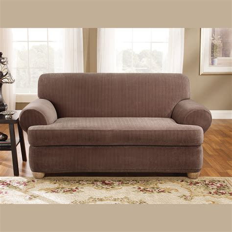 sure fit scroll brown sofa slipcover sure fit sofa covers sure fit scroll brown loveseat
