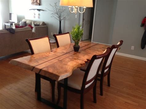 Live Edge Kitchen Table by Live Edge Dining Table Kitchen Styles