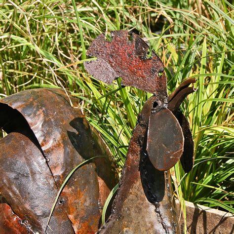 recycled metal sculptures garden recycled metal cockerel garden sculpture by garden
