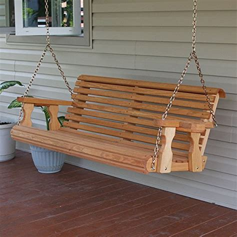 buy porch swing amish heavy duty 800 lb roll back 5ft treated porch swing