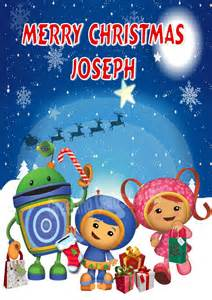 Personalised team umizoomi christmas card