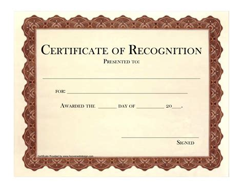recognition certificates templates best photos of free printable employee recognition