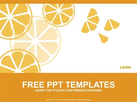 orange slices powerpoint templates download free daily