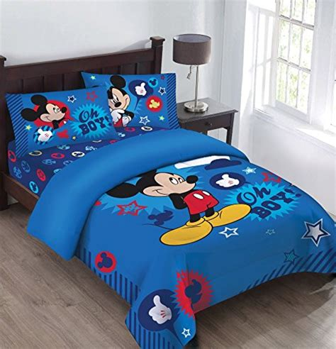 mickey mouse twin bed disney mickey mouse oh boy twin bedding comforter set ebay