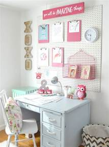 Girls Room That Have A Office Up Stairs A Peg Board For The Girls Room Aimee Weaver Designs Llc