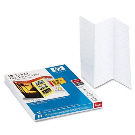 Tri Fold Paper Folder - hp color laser glossy brochure paper office supplies