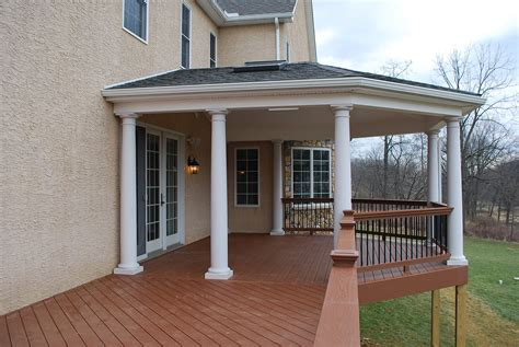 fresh modern deck with roof cost 21590