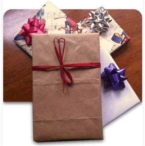 gift wrap bag upcycled bag gift wrapping diyideacenter