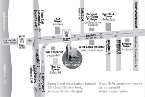 Map of Eastin Grand Hotel Sathorn Bangkok