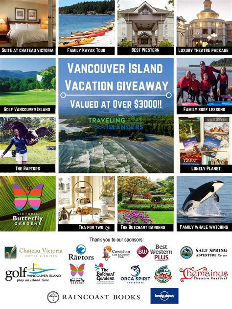 Vacation Giveaways - vancouver island vacation giveaway worth 3000 traveling islanders