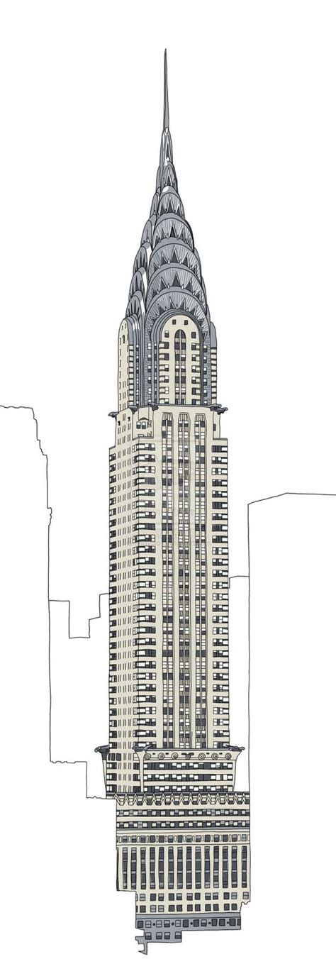 Sketches Nyc by Chrysler Building Drawing Search Gala