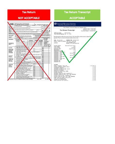 how does a tax transcript look like osfa tax return transcript