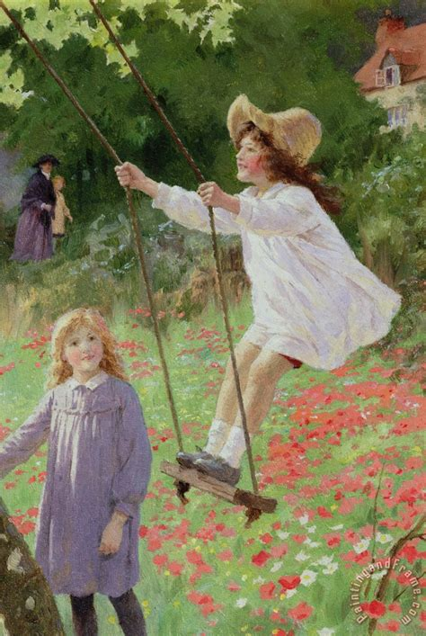 the swing percy tarrant the swing painting the swing print for sale
