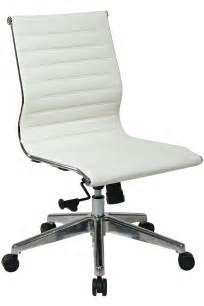 Small Desk Chair Without Arms 73633 Office Modern Mid Back White Eco Leather