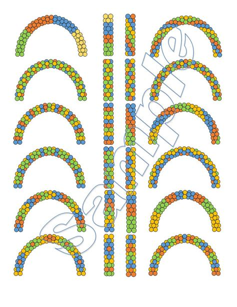 flower pattern balloon arch balloon arch and columns patterns four colors