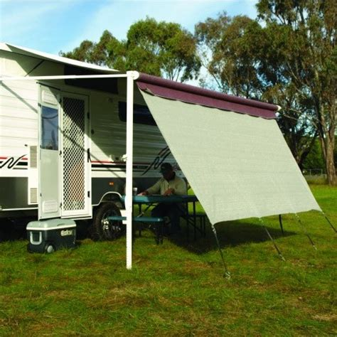 shade walls for caravan awnings caravansplus camec long wall screen 90 shade 3 4m