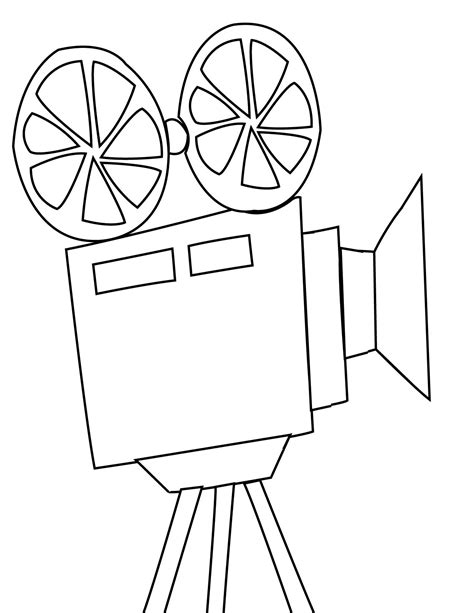 movie theatre coloring page