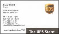 ups store print business cards shipping packages