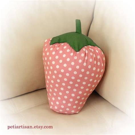strawberry pillows strawberry shaped pillow strawberry pillow by petiartisan