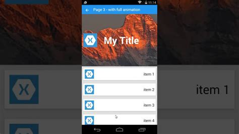 xamarin card layout xamarin forms listview with animate android youtube