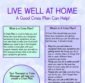 mental health crisis management plan template macomb county community mental health gt home