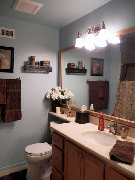 blue and brown bathroom home ideas brown