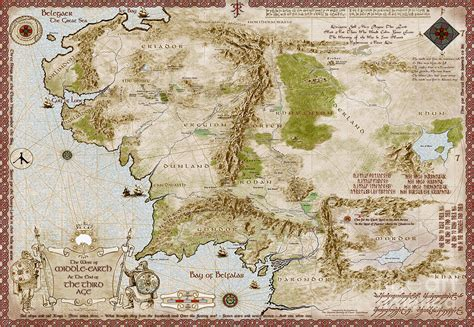map of middleearth map of middle earth digital by anthony forster