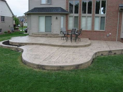 sted concrete patio edging outdoor decks