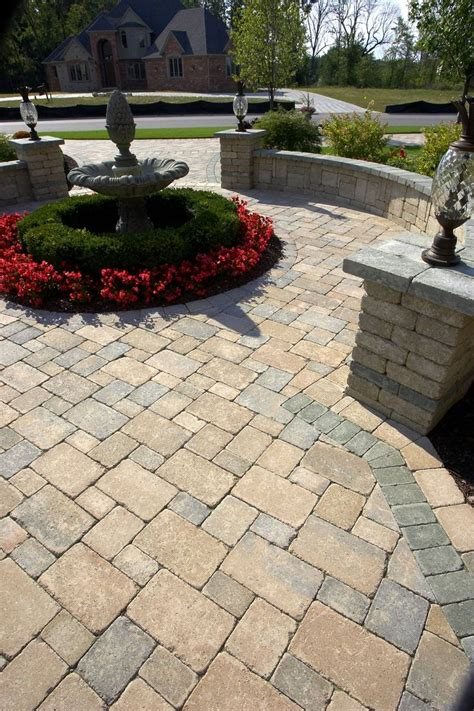 Paver Patio Designs Unilock Paver Patio Patio Ideas Landscaping Ideas Yard Care