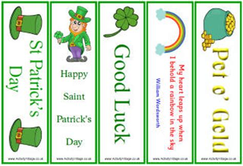 free printable irish bookmarks from the heart up march 2012