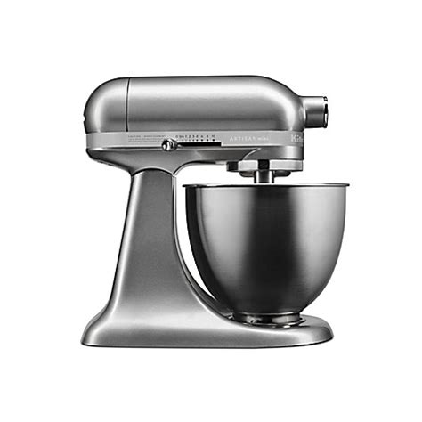 kitchenaid bed bath and beyond buy kitchenaid 174 artisan 174 mini 3 5 qt mixer in silver from